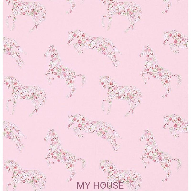 Обои Abracazoo 214037 Pretty Ponies Pink/Vanilla Sanderson
