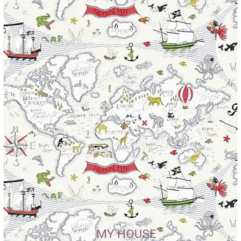 Обои Abracazoo 214040 Treasure Map Vanilla/Multi Sanderson
