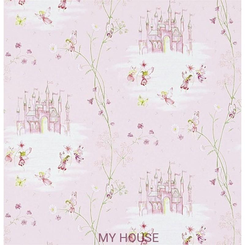 Обои Abracazoo 214046 Fairy Castle Pink Sanderson