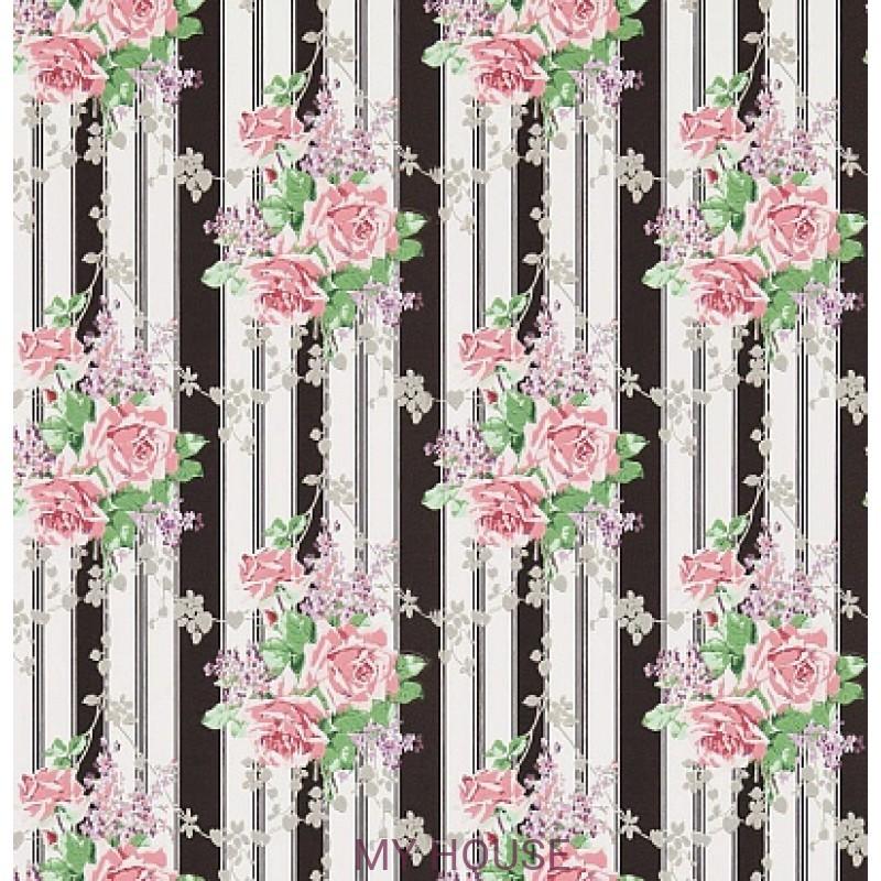 Обои Vintage 2 214584 Cecile Rose Ebony/Rose Sanderson