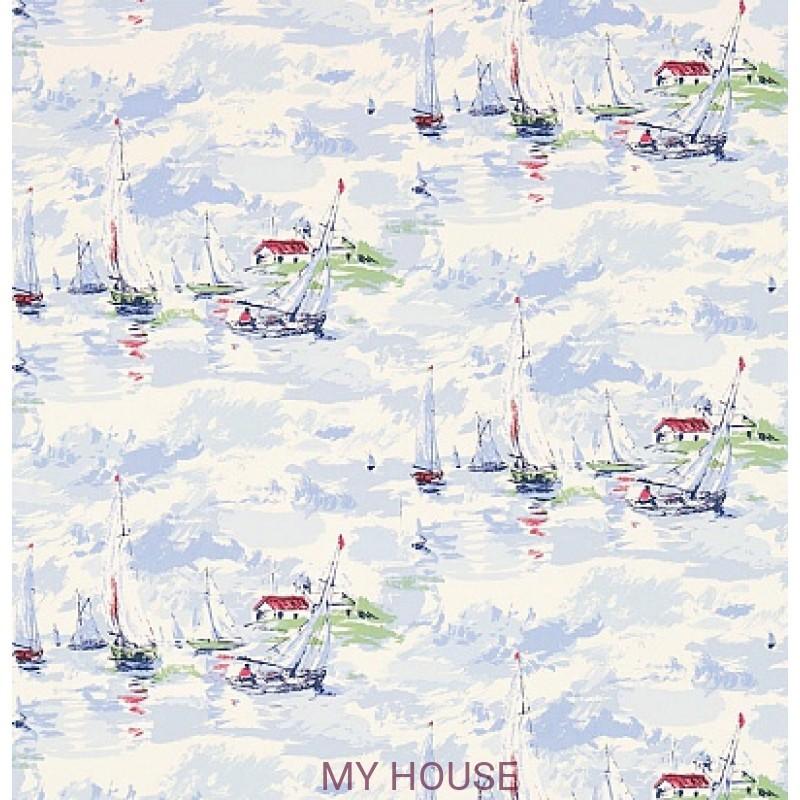 Обои Vintage 2 214590 Sail Away Sky Blue Sanderson