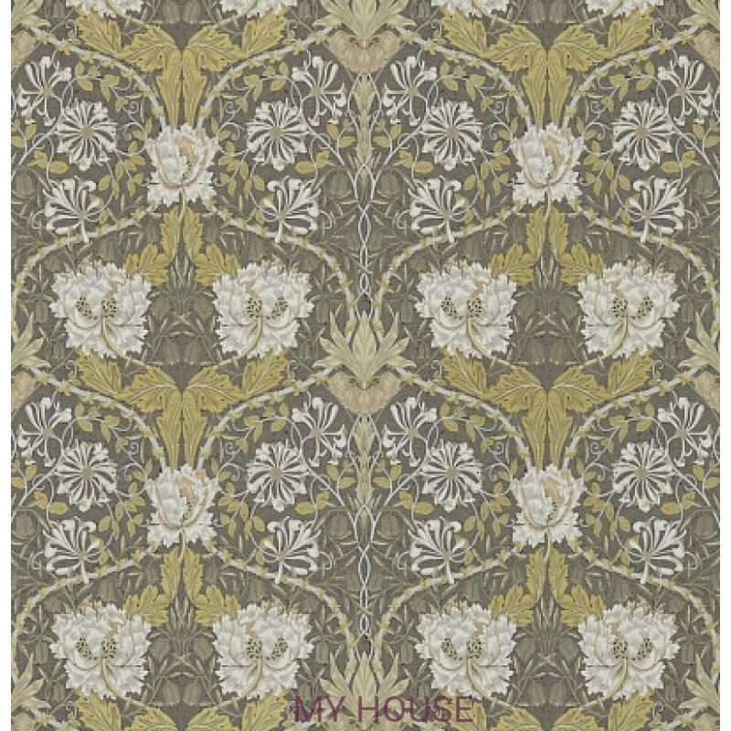 Обои Обои 214701 Honeysuckle&Tulip Charcoal/Gold Morris&Co