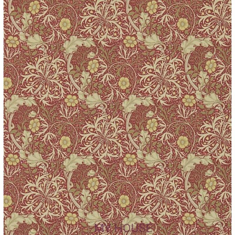 Обои Обои 214712 Morris Seaweed Red/Gold Morris&Co