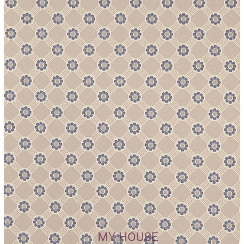 Обои Poesy 310185 Rosette Trellis Silver/Blue Zoffany