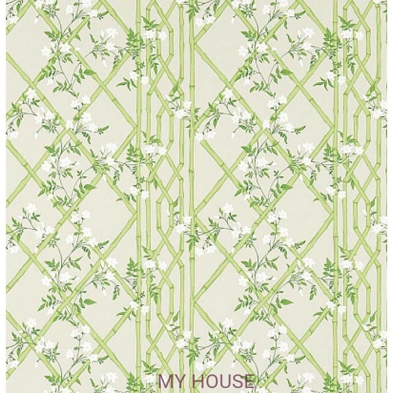 Обои Woodville Papers 311330 Jasmine Lattice Spring Leaf Zoffany