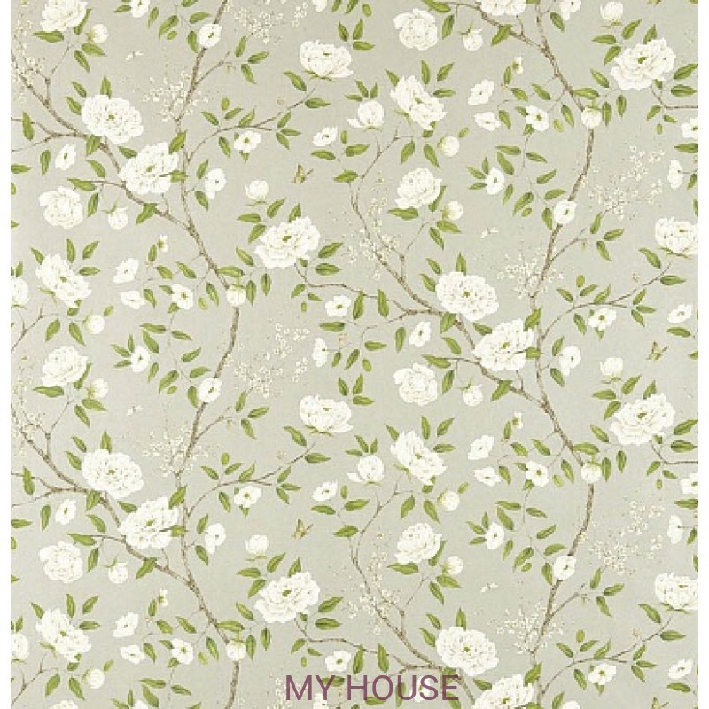 Обои Woodville Papers 311333 Romey`s Garden Silver Zoffany