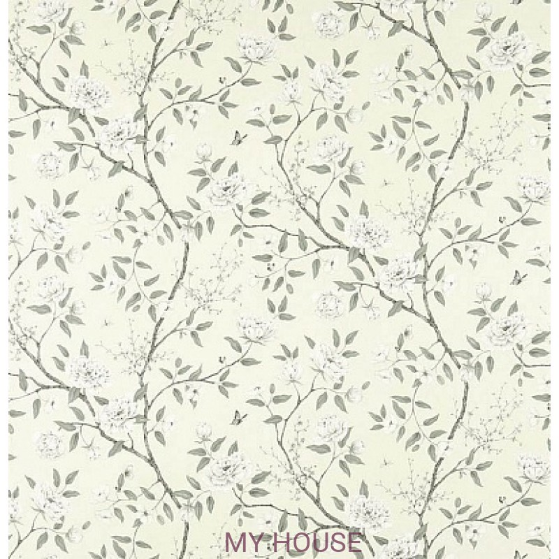 Обои Woodville Papers 311335 Romey`s Garden Graphite Zoffany