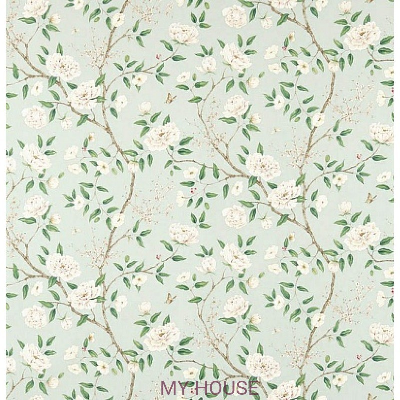 Обои Woodville Papers 311336 Romey`s Garden Sea Green Zoffany