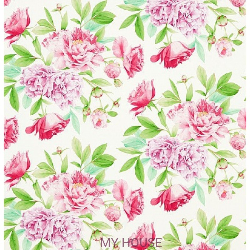 Обои Woodville Papers 311359 Phoebe Peony/Leaf Zoffany