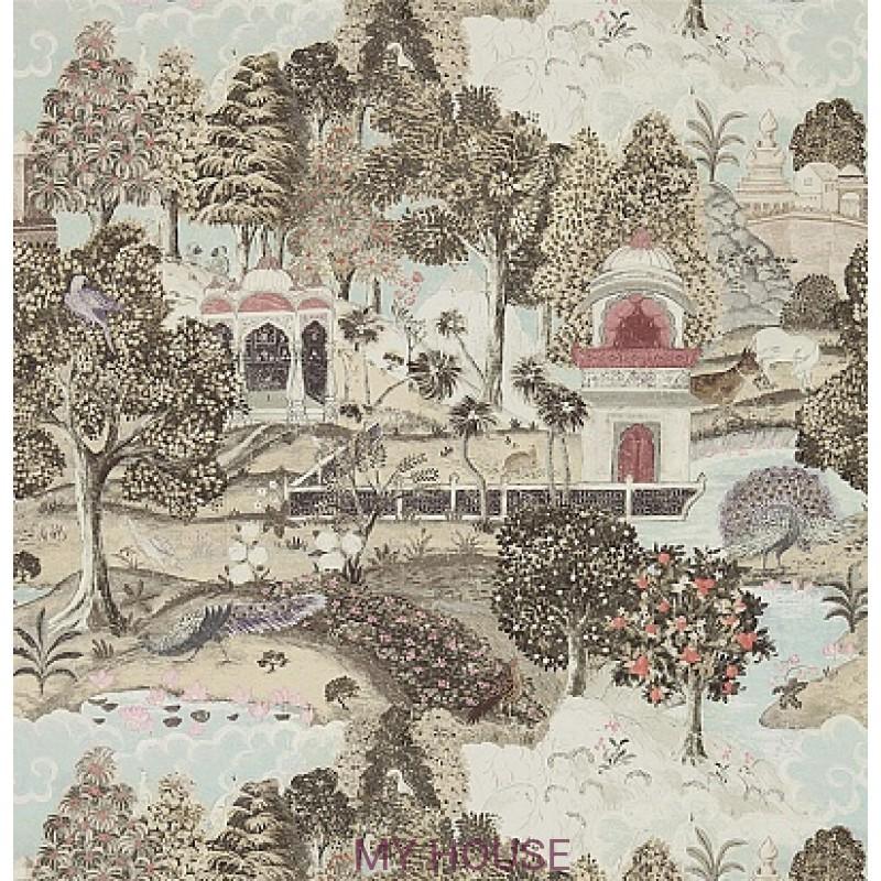 Обои Jaipur 311742 Peacock Garden Linen/Silver Zoffany