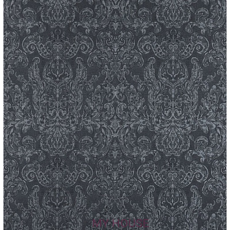 Обои Constantina Damask 312117 Brocatello anthracite Zoffany