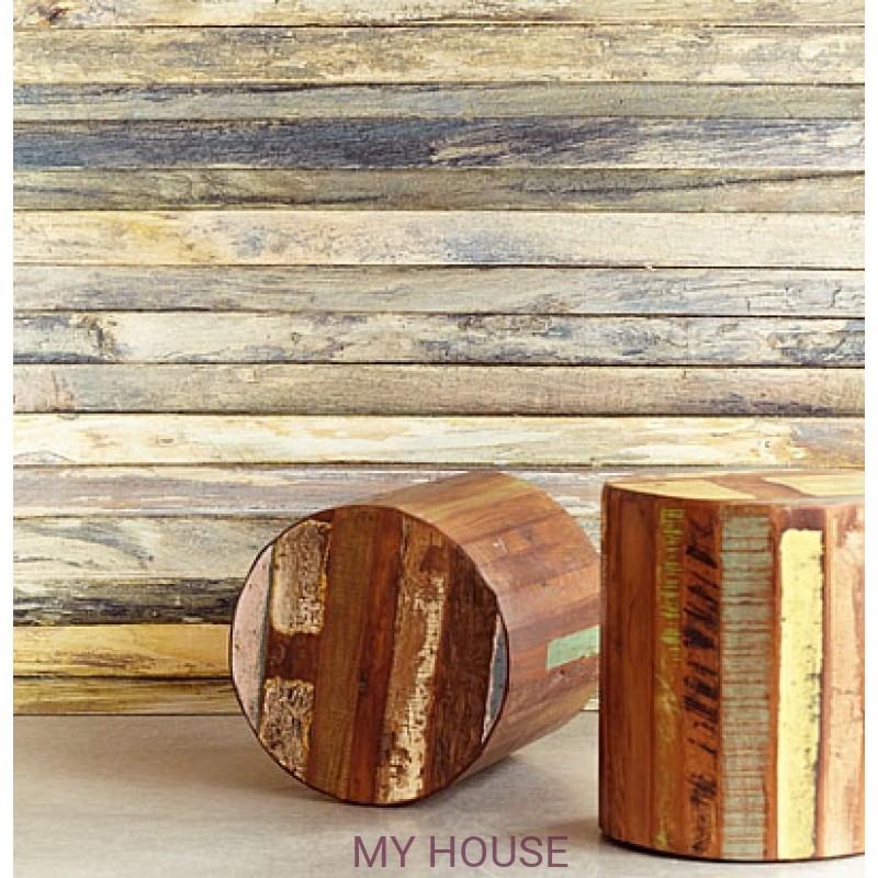 Обои Wallpower Rhythm 330016 Panel Weathered Wood Eijffinger