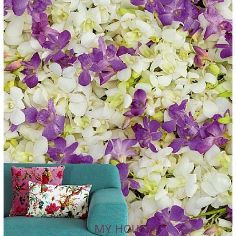 Обои Wallpower Rhythm 330034 Panel Lilies in Line Eijffinger