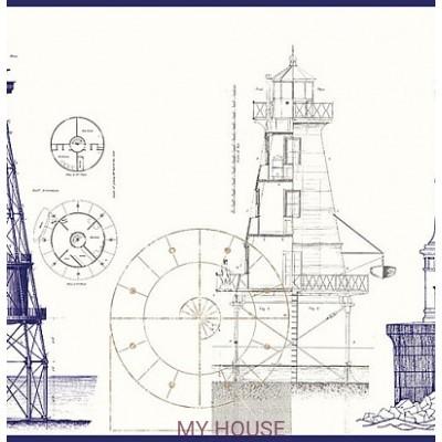 Светлый бордюр с маяком 343004