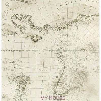 Светлые обои с картой мира 343022