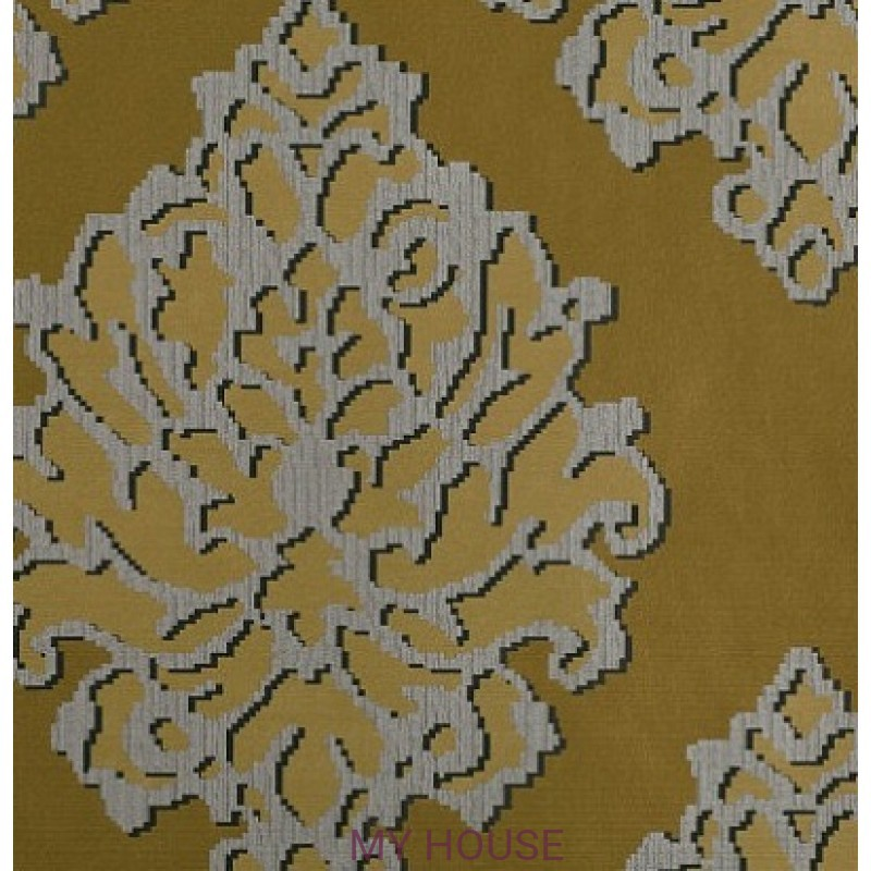 Обои Astratto Wallcoverings W390/02 Castelli Ochre Black Edition