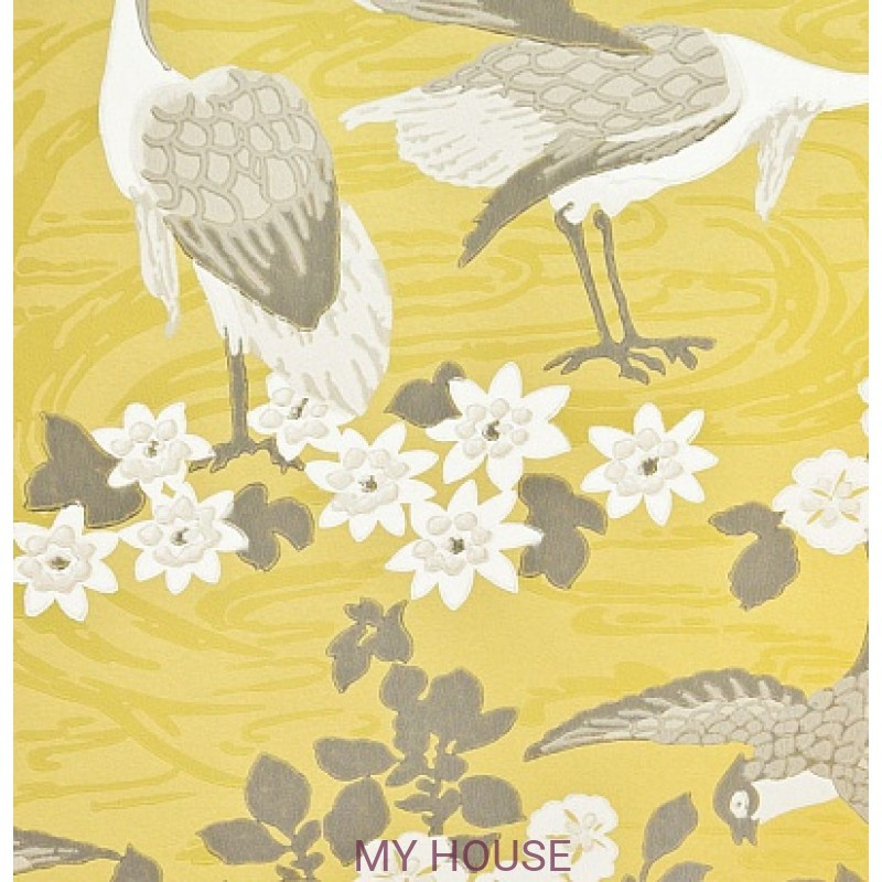 Обои Crayford BW45034/5 Herons Strong Yellow/Bronze GP&JBake