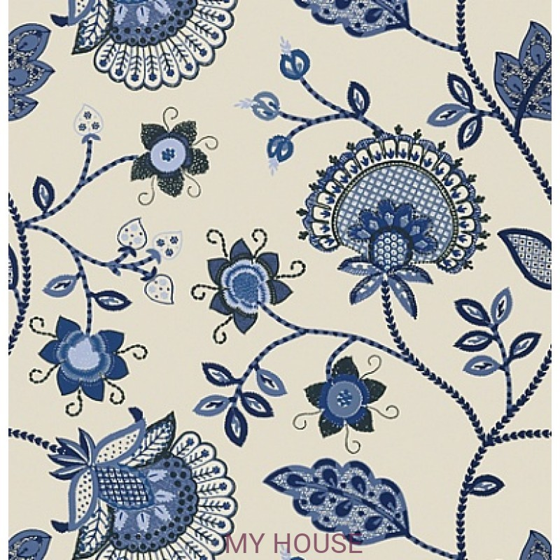 Обои Bridgehampton T24366 Portofino Blue THIBAUT