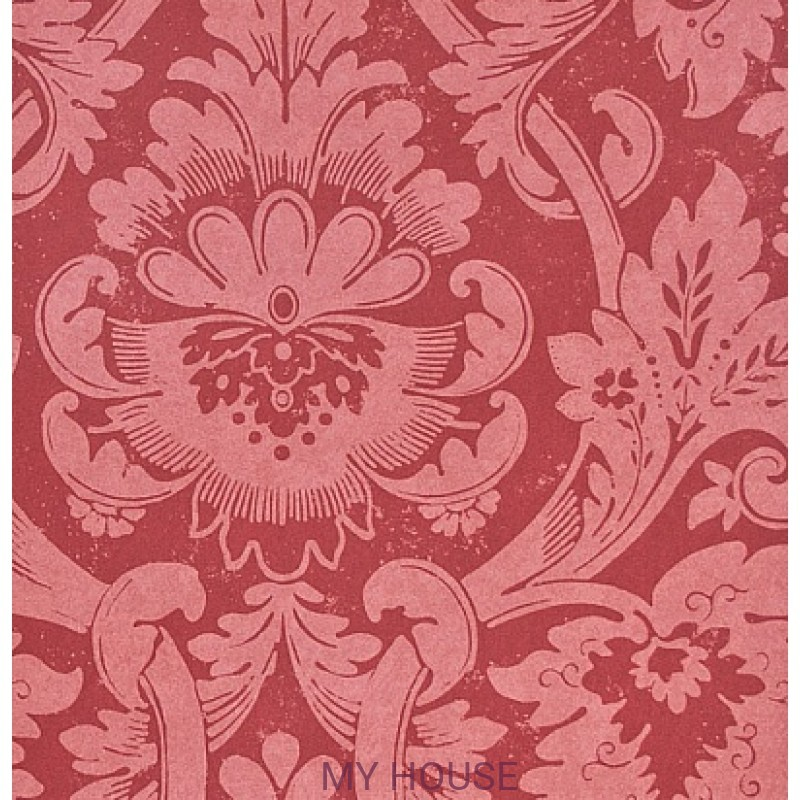 Обои Classic Damask Wallpaper CDW04009 Versailles Red Zoffany