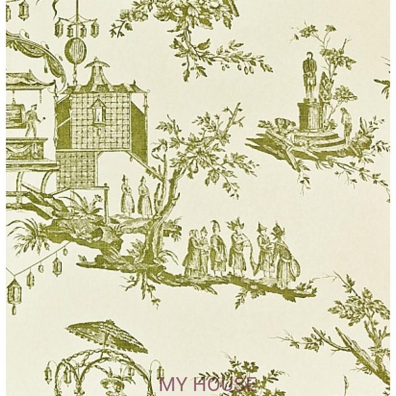 Обои Chantemerle Wallpaper CHP02002 L'lle Des Lanternes-Lime Zof