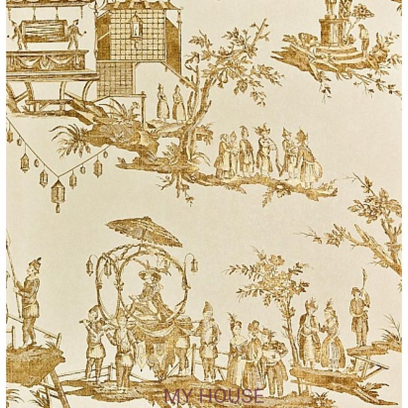 Обои Chantemerle Wallpaper CHP02005 L'lle Des Lanternes-Gold Zof