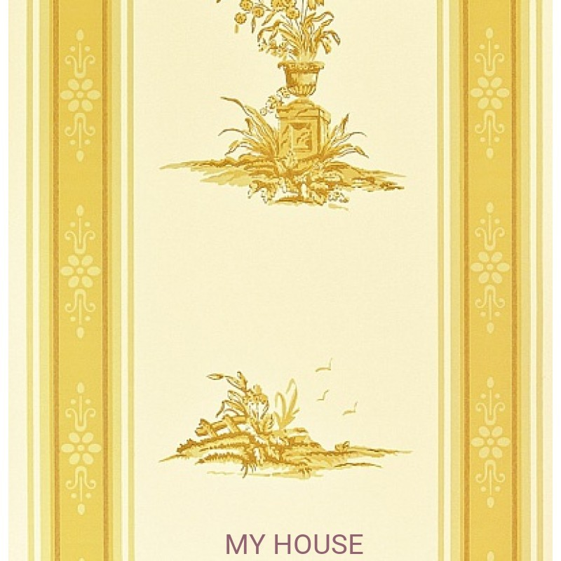 Обои Chantemerle Wallpaper CHP04002 Reveillon Stripe-Gold Zoffan