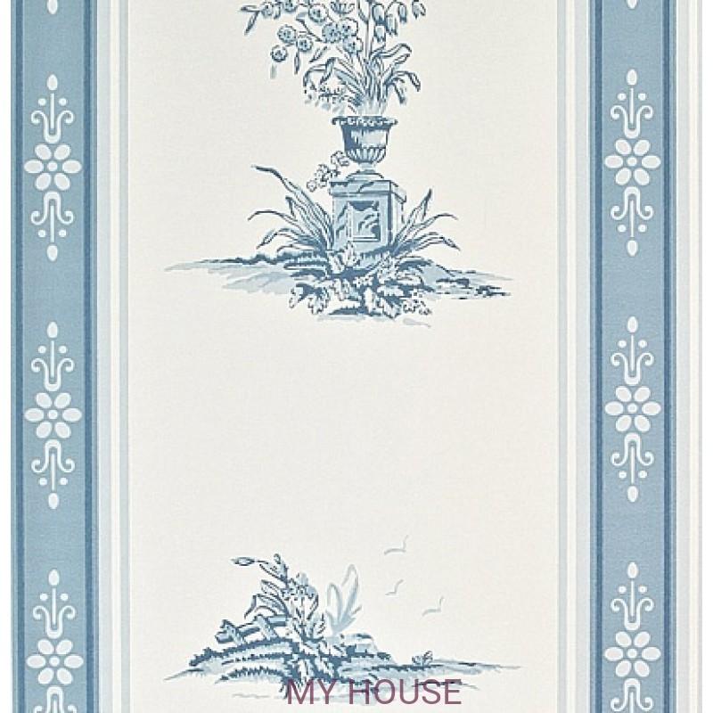 Обои Chantemerle Wallpaper CHP04005 Reveillon Stripe-Blue Zoffan