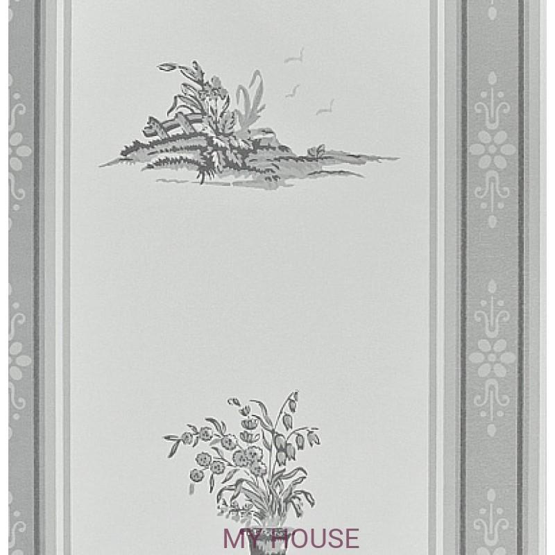 Обои Chantemerle Wallpaper CHP04006 Reveillon Stripe-Gray Zoffan