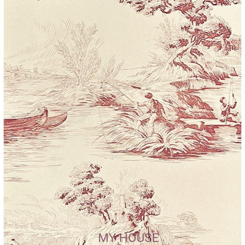 Обои Chantemerle Wallpaper CHP05001 The Boatmen-Russet Rad Zoffa