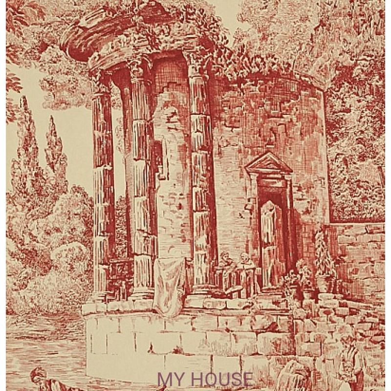 Обои Chantemerle Wallpaper CHP07003 The Temple De Jupiter-Rad Zo