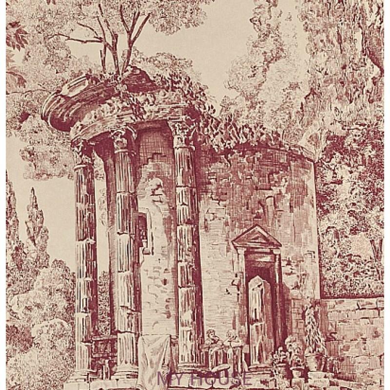 Обои Chantemerle Wallpaper CHP07004 The Temple De Jupiter-Plum Z