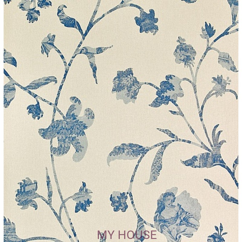 Обои Chantemerle Wallpaper CHP08005 Coromander-Blue Zoffany