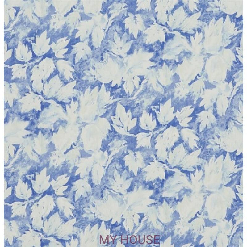 Обои Caprifoglio wallpapers PDG679/01 Fresco Leaf Indigo Designe