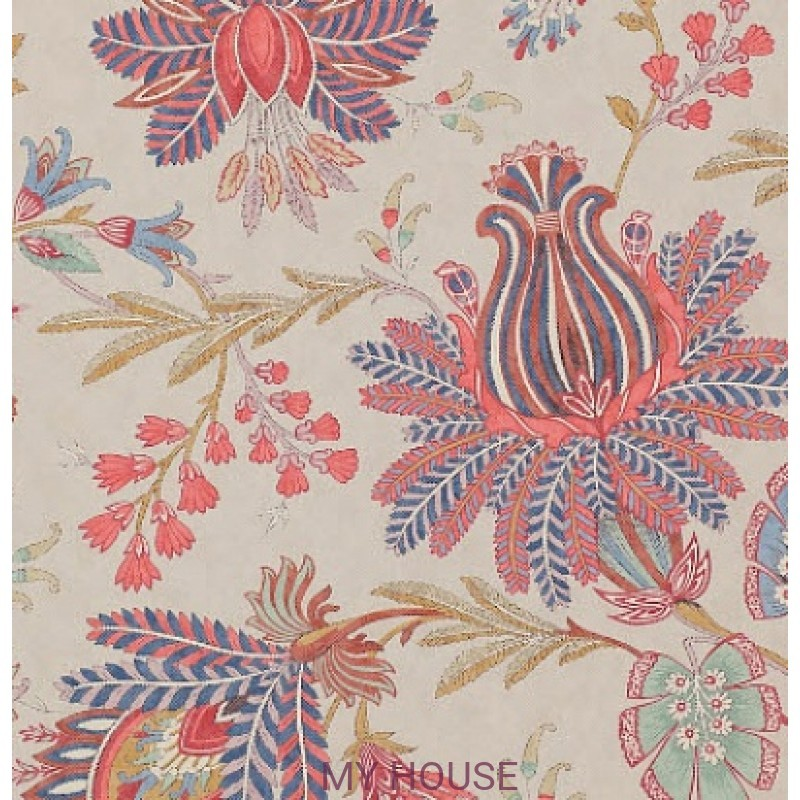Обои Casimir Wallpapers 07162/03 Casimir Red/Blue Colefax and Fo