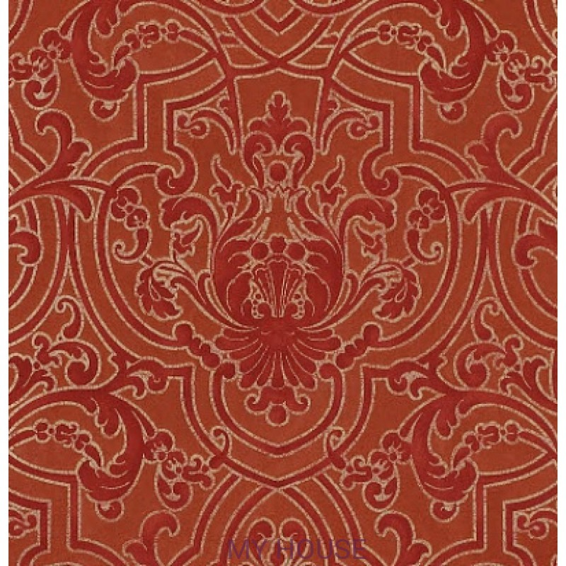 Обои Casimir Wallpapers 07163/02 Fretwork Red Colefax and Fowler