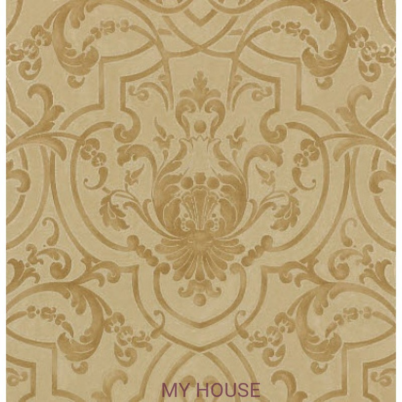 Обои Casimir Wallpapers 07163/03 Fretwork Gold Colefax and Fowle