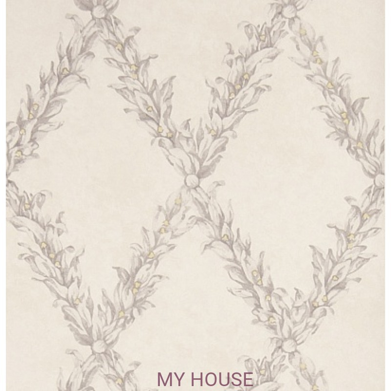 Обои Charles Faudree Wallcovering Beauclaire trellis Grey Strohe