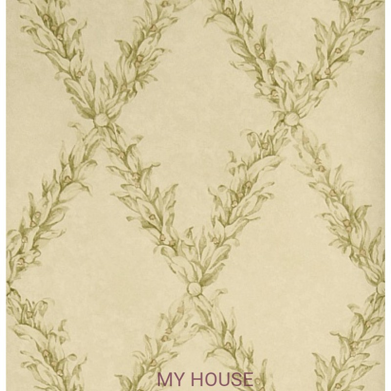 Обои Charles Faudree Wallcovering Beauclaire trellis Olive Stroh