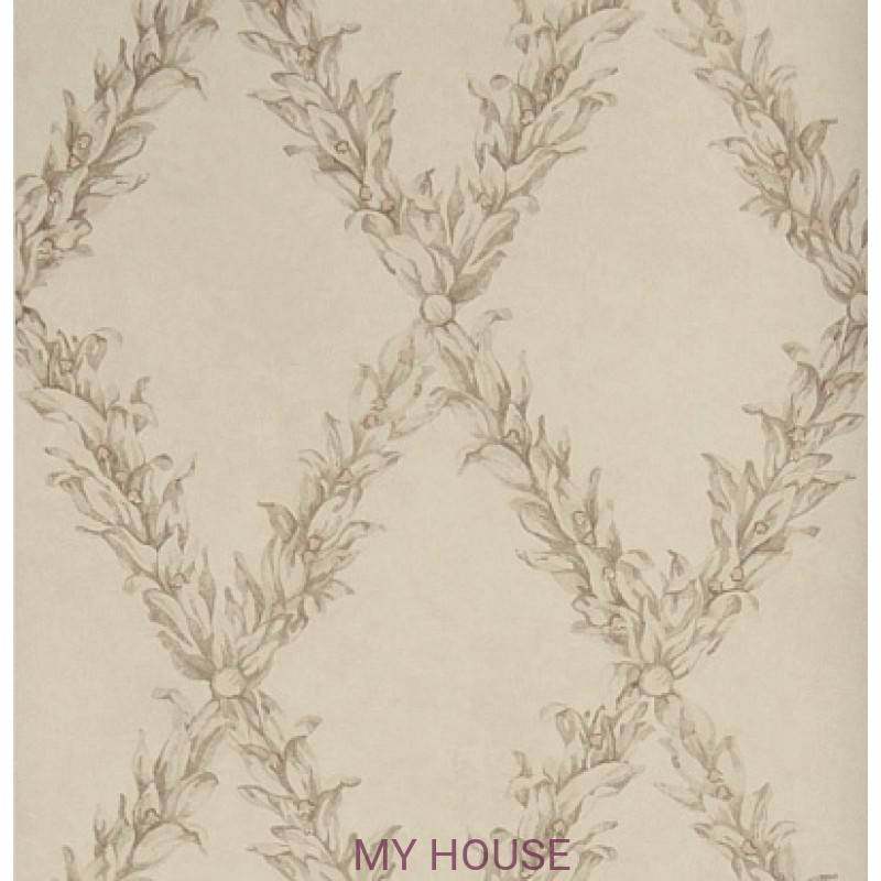Обои Charles Faudree Wallcovering Beauclaire trellis Taupe Stroh