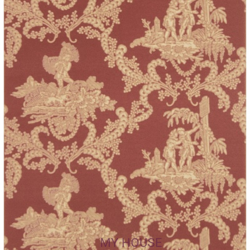 Обои Charles Faudree Wallcovering Hamlet's Toile Red Stroheim