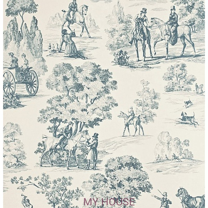 Обои Toile Collection DEGTFH101 Fox Hunting Sanderson