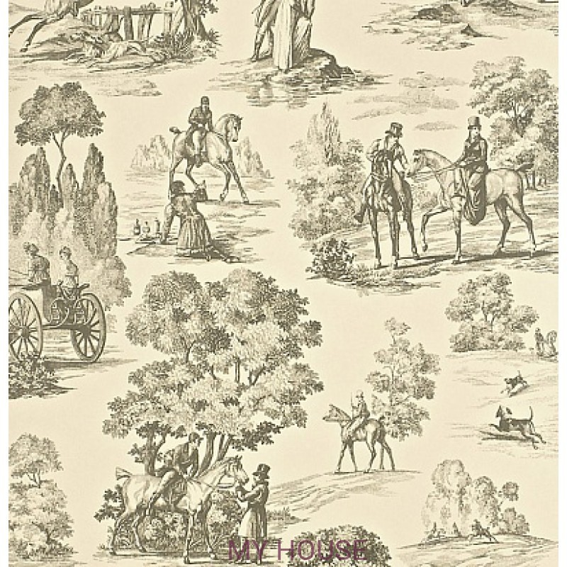 Обои Toile Collection DEGTFH102 Fox Hunting Sanderson