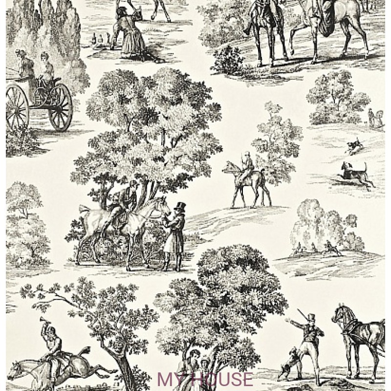 Обои Toile Collection DEGTFH103 Fox Hunting Sanderson
