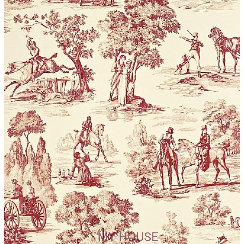 Обои Toile Collection DEGTFH104 Fox Hunting Sanderson