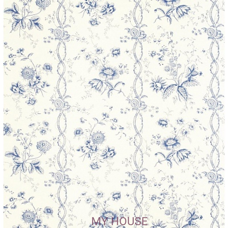 Обои Toile Collection DEGTFS102 Floral Stripe Sanderson