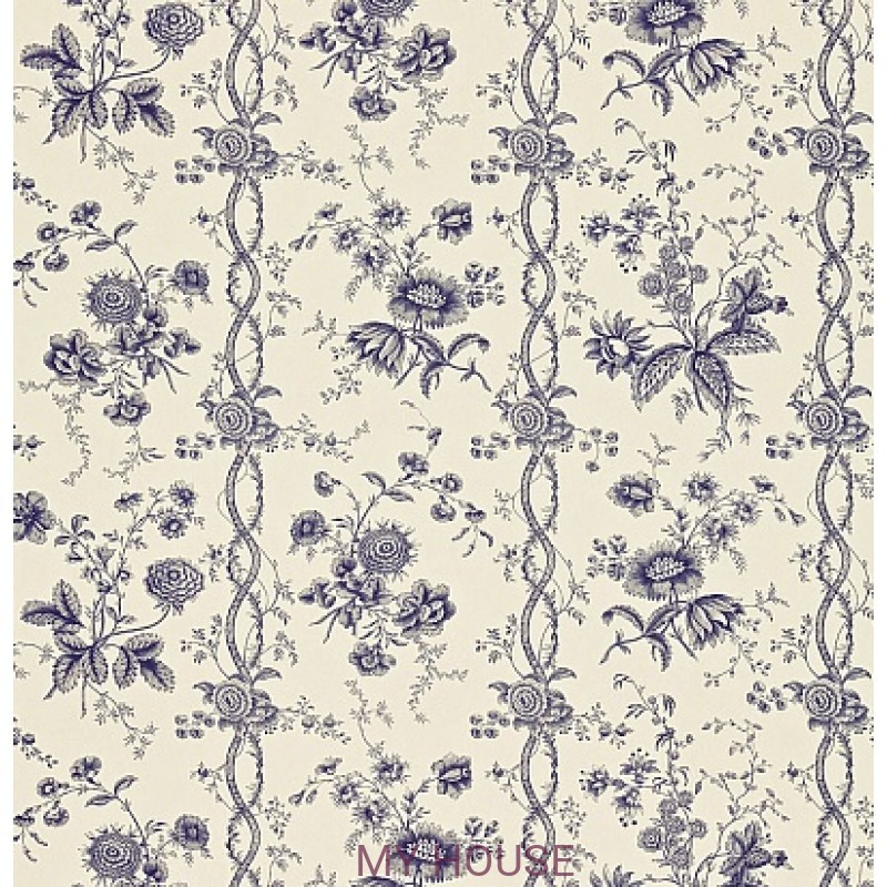 Обои Toile Collection DEGTFS103 Floral Stripe Sanderson