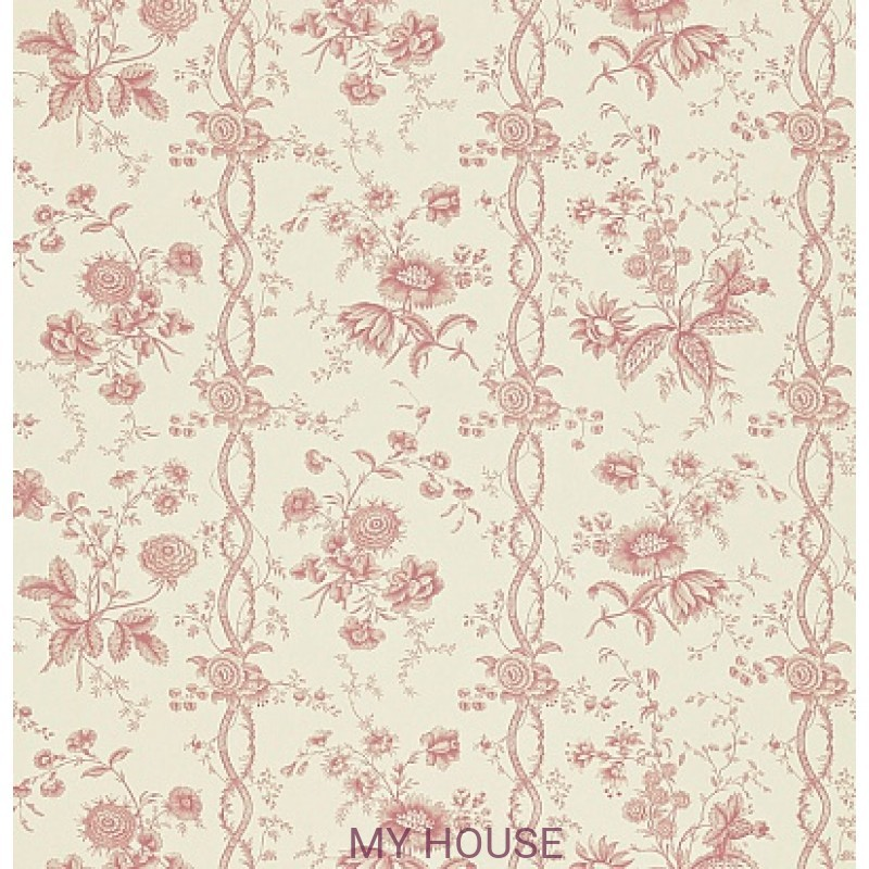 Обои Toile Collection DEGTFS106 Floral Stripe Sanderson