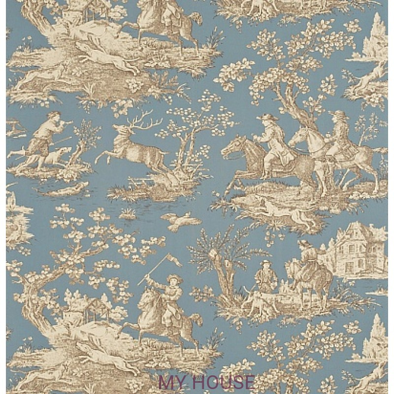 Обои Toile Collection DEGTST102 Stag Hunting Sanderson