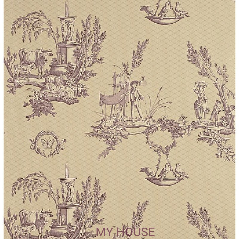 Обои Toile Collection DEGTVD102 Vatican Doves Sanderson