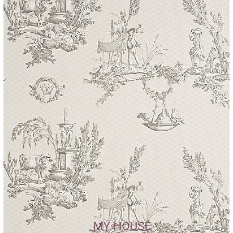Обои Toile Collection DEGTVD103 Vatican Doves Sanderson